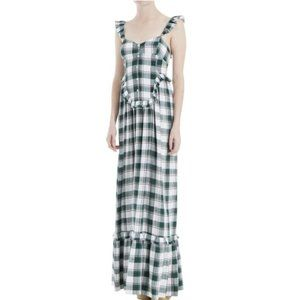 NWT Max Studio Plaid Prairie Cottagecore Dress